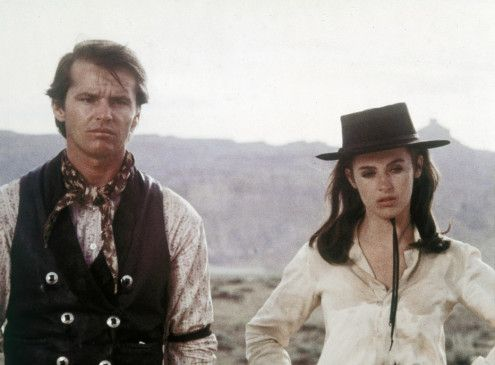 Revolverheld Billy Spear (Jack Nicholson) mit der Frau (Millie Perkins) ohne Namen