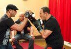 Training ist alles! Kevin James (r.) im Einsatz