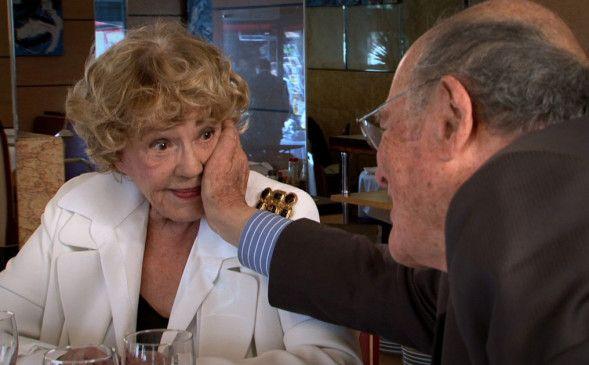 Marcel Ophüls mit der französischen Kino-Ikone Jeanne Moreau