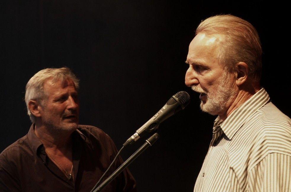 Konstantin Wecker (l.) und Hannes Wader auf großer Konzerttournee