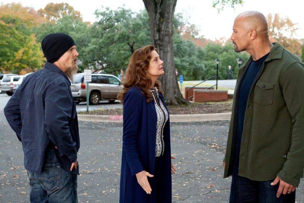Ärger im Anmarsch: Barry Pepper, Susan Sarandon und Dwayne Johnson (r.).