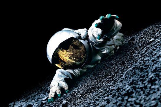 Faszinierend: Mann auf dem Mond