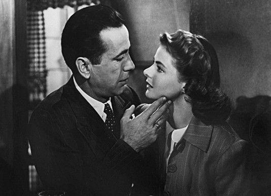 """Legendär: """"Ich schau dir in die Augen, Kleines...""""   Humphrey Bogart und Ingrid Bergman"""