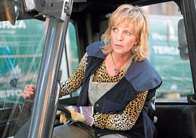 Klar kann ich den Traktor fahren! Ulrike Kriener als Petra Koslowski