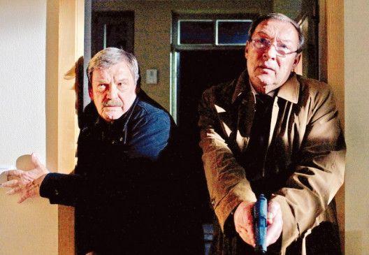 Das war der Fehlschuss! Jaecki Schwarz (r.) und  Wolfgang Winkler als Ermittler-Duo