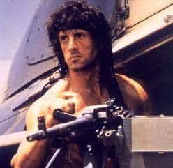 Leg' dich nicht mit mir an, Freundchen! Muskelpaket Sylvester Stallone ist Rambo