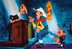 Lucky Luke (M.) ist selbst in der Kirche im Einsatz