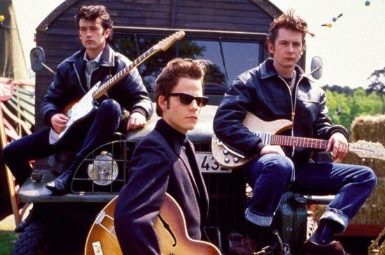"Ein Bild aus frühen ""Beatles""-Tagen: George Harrison (Chris O'Neill), Stuart Sutcliffe (Stephen Dorff) und John Lennon (Ian Hart, v.l.)"