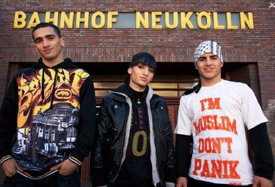 Sie sind stolz auf ihre Heimat Neukölln: Hassan, Lial und Maradona