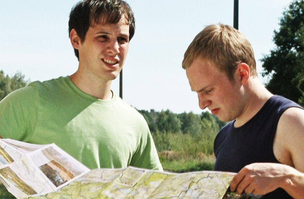 Wie lieben uns doch, oder? Sebastian Schlecht (l.) und Eric Golub