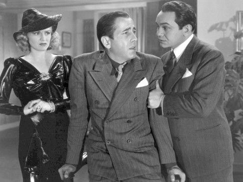 Dr. Clitterhouse (Edward G. Robinson, r.) will sich Valentine (Humphrey Bogart) vom Hals schaffen