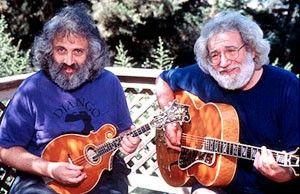 Zwei Freunde sollt ihr sein! David Grisman und Jerry Garcia (v.l.)