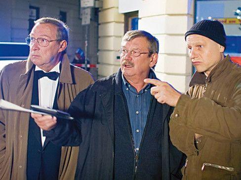 Wo geht es jetzt lang? Jaecki Schwarz, Wolfgang Winkler und Bernd Michael Lade (v.l.)