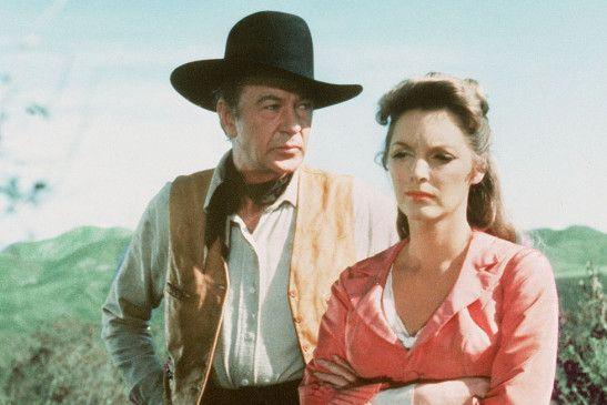 Kämpfen gegen die Banditen: Gary Cooper und Julies London