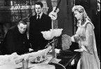Cummins (Peter Lorre, l.), Ryler (Robert Alda) und Julie Holden (Andrea King) können es nicht fassen