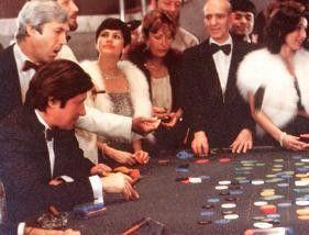 Diesmal werd ichs packen! Jacques Dutronc (l.) am  Roulette-Tisch
