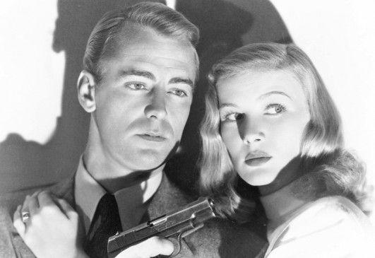 Gemeinsam auf Mörderjagd: Johnny (Alan ladd) und  die schöne Joyce (Veronika Lake)