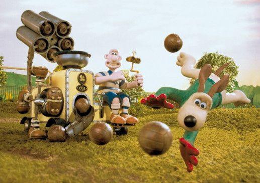 Wallace und Gromit im Fußballfieber
