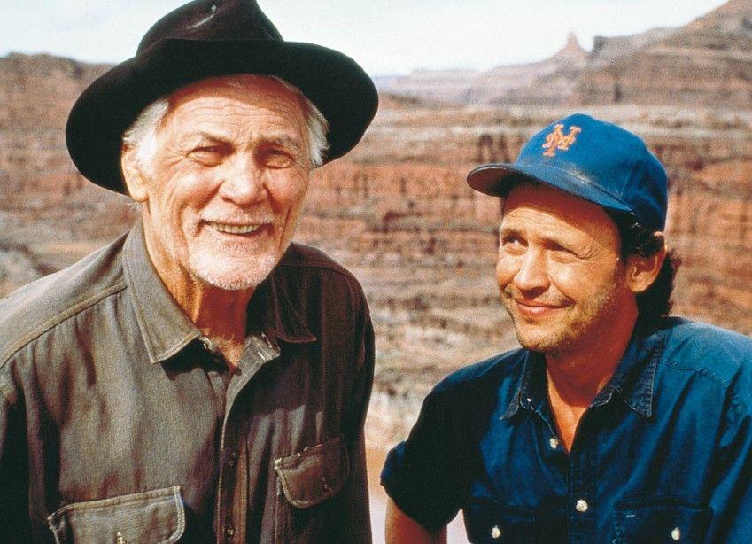 Der Cowboy und das Greenhorn: Jack Palance und Billy Crystal (r.)