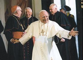 Habemus papam! Bob Hoskins als Johannes XXIII.
