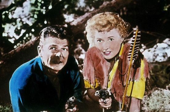 Die zwei schießen scharf: Barbara Stanwyck und Ronald Reagan