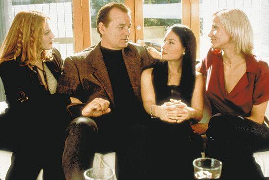 Ach Mädels, ich liebe euch doch alle! Bill Murray  mit Drew Barrymore, Lucy Liu und Cameron Diaz