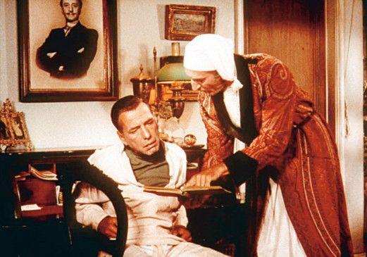 Ja, können sie denn nicht lesen! Basil Rathbone (r.) und Humphrey Bogart
