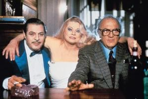 Bekannte aus alten Tagen: Marcello Mastroianni, Anita Ekberg und Federico Fellini (v.l.)