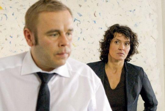 Kommissarin Odenthal (Ulrike Folkerts) erscheint Heymann (Frank Giering) verdächtig