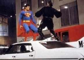 Zweikampf der Giganten: Christopher Reeve (l.) und  Terence Stamp