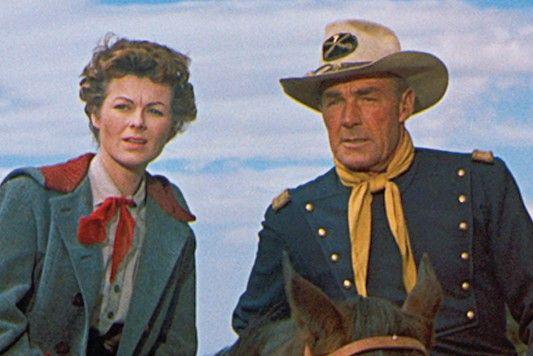 Ich muss jetzt da rein! Randolph Scott mit Barbara Hale