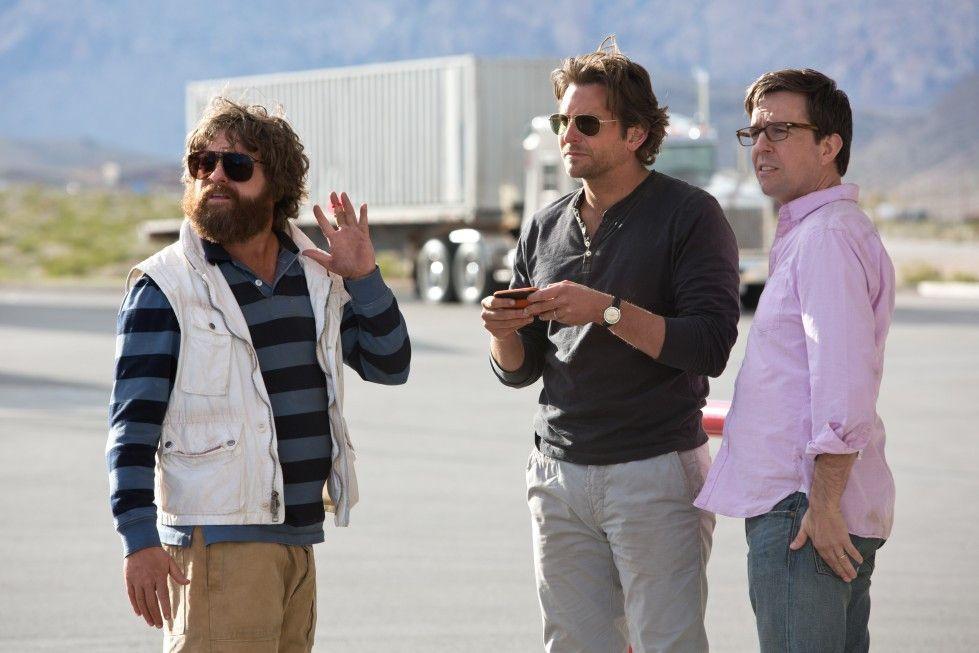 Sorgen wieder für Chaos: Zach Galifianakis, Bradley Cooper und Ed Helms (v.l.)