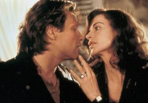 Und noch ein Kuss! Anna Galiena und Jon Bon Jovi