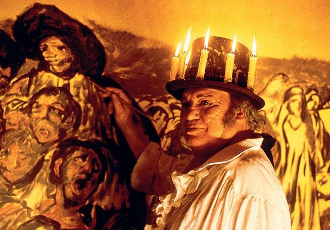 Francisco Rabal in der Rolle des berühmten Malers  Goya
