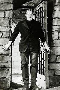 Wo ist denn meine Braut?  Boris Karloff in seiner  Paraderolle als Monster