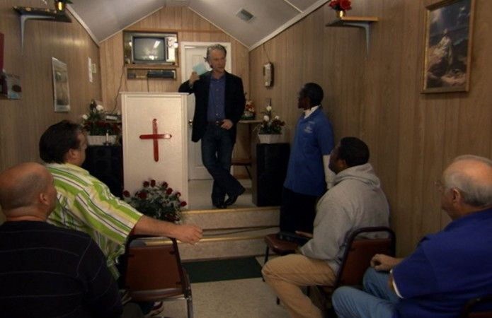Predigt Bill Maher etwa in der Trucker-Kirche?
