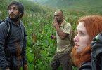 Der Bergfuehrer und seine Begleiter: Bidzina Gujabidze (M.) mit Hani Furstenberg und Gael Garcia Bernal