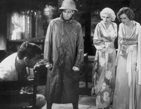 Wo sind den ihre Füße hin? Clark Gable, Gene Raymond, Jean Harlow und Mary Astor (v.l.)