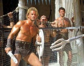 Auf in den Kampf! Stephan Hornung als Gladiator