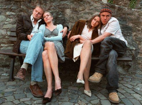 Erinnern sich an vergangene Zeiten: Bert (Devid Striesow), Connie (Lisa Martinek), Tanja (Barbara Philipp) und Stütze (Frank Giering, v.l.)