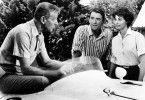 Noch ist die Welt in Ordnung! Fred Astaire (l.), Gregory Peck und Ava Gardner