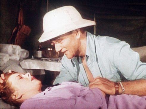 Schwere Zeiten: John Wayne und Susan Hayward