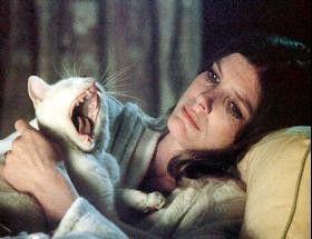 """Jetzt gähnt gar schon die Katze! Katharine Ross im  """"Haus des Satans"""""""