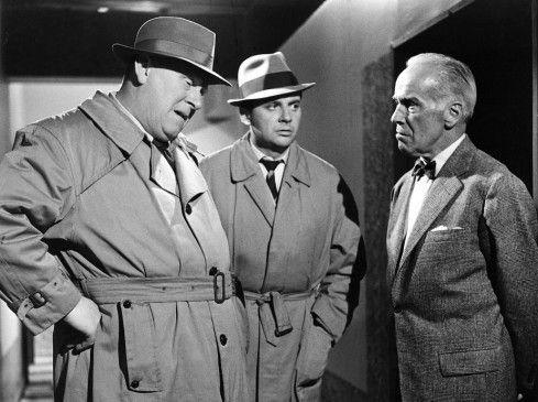Ich will zu Mabuse! Gert Fröbe mit Harald Juhnke und Walter Rilla (v.l.)