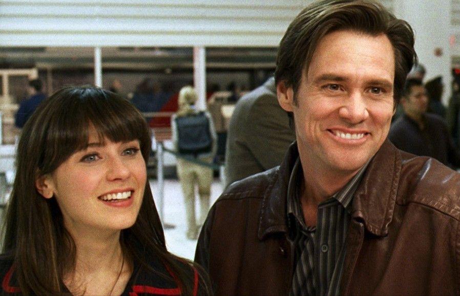 """Prima, sie hat auch """"Ja"""" gesagt! Jim Carrey und Zooey Deschanel"""