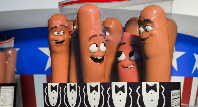 """Carl, Barry und Frank in """"Sausage Party - Es geht um die Wurst""""."""