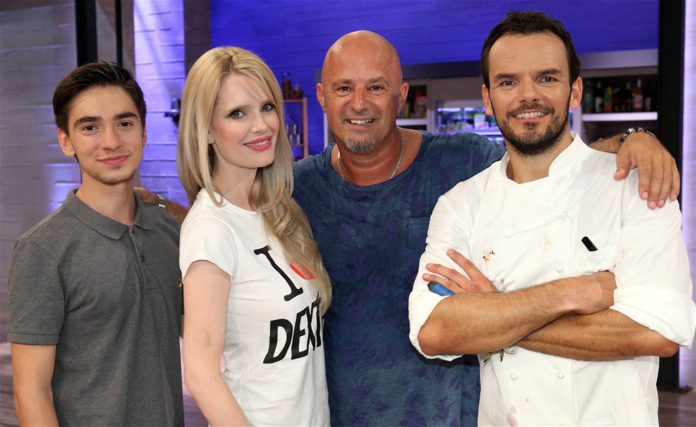 Ivo Kortlang, Mirja du Mont und Detlef Steves wollen sich im Koch-Duell mit Steffen Henssler beweisen.