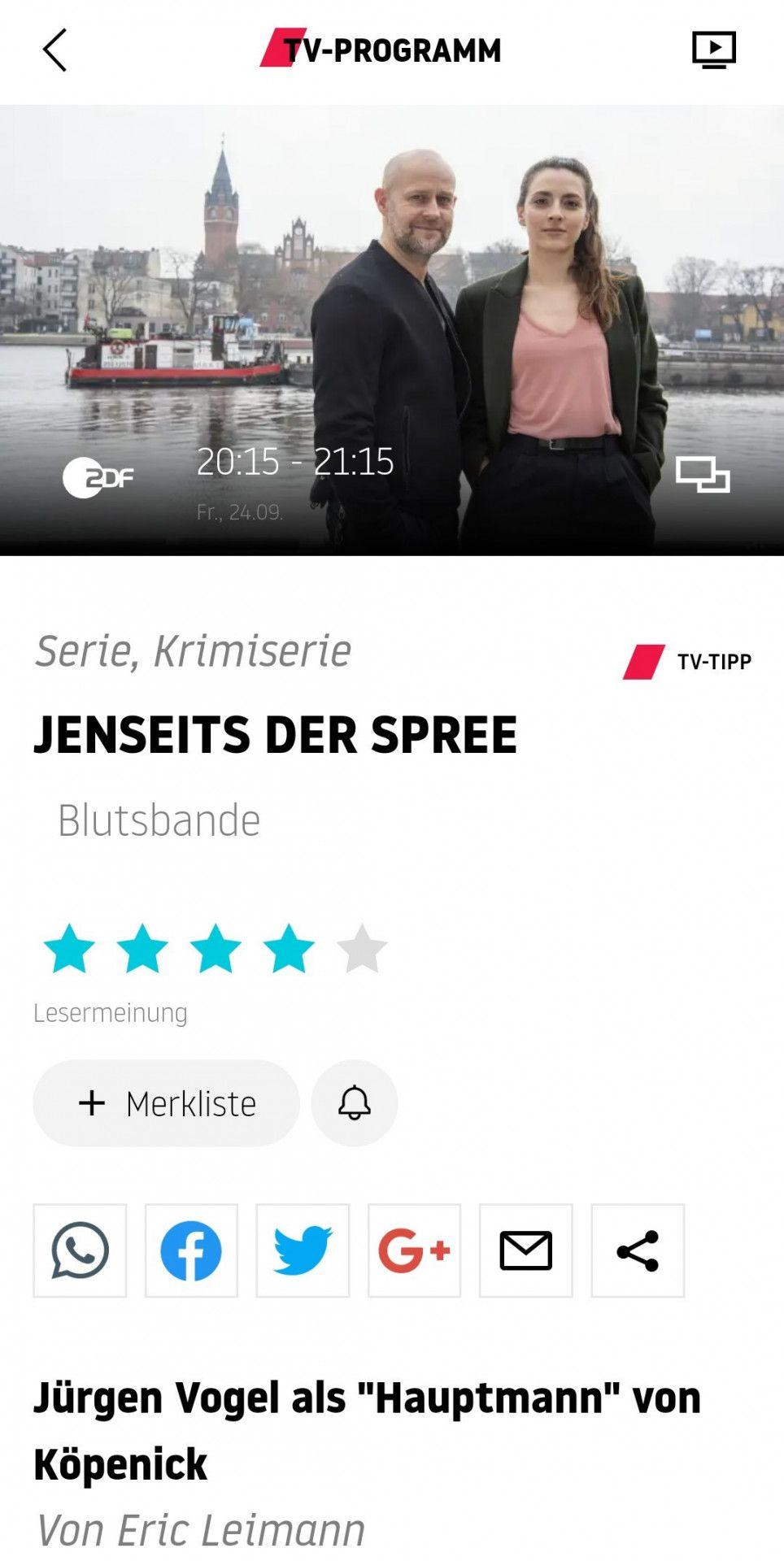 Wissen, was sich lohnt: Tägliche TV-Tipps aus der Redaktion bieten Empfehlungen an, die umgehend auch von den prisma-App-Nutzern bewertet werden können.