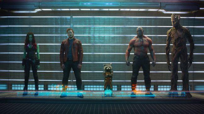 """Fünf Freunde müsst ihr sein: die Outlaws aus """"Guardians of the Galaxy"""" unter sich."""