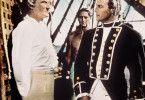 Die Meuterei nimmt ihren Lauf: Marlon Brando (r.) widerspricht Trevor Howard